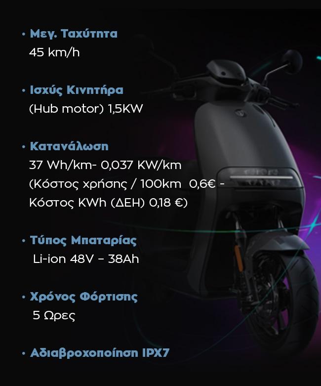 E110 SE Launch Edition - Τεχνικά χαρακτηριστικά