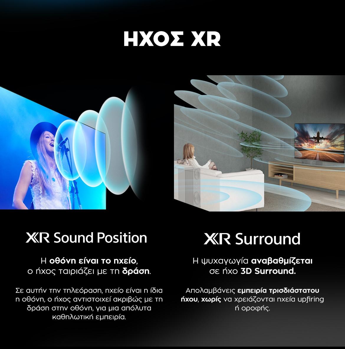 SONY Bravia XR OLED - Ήχος XR Sound Position & Surround