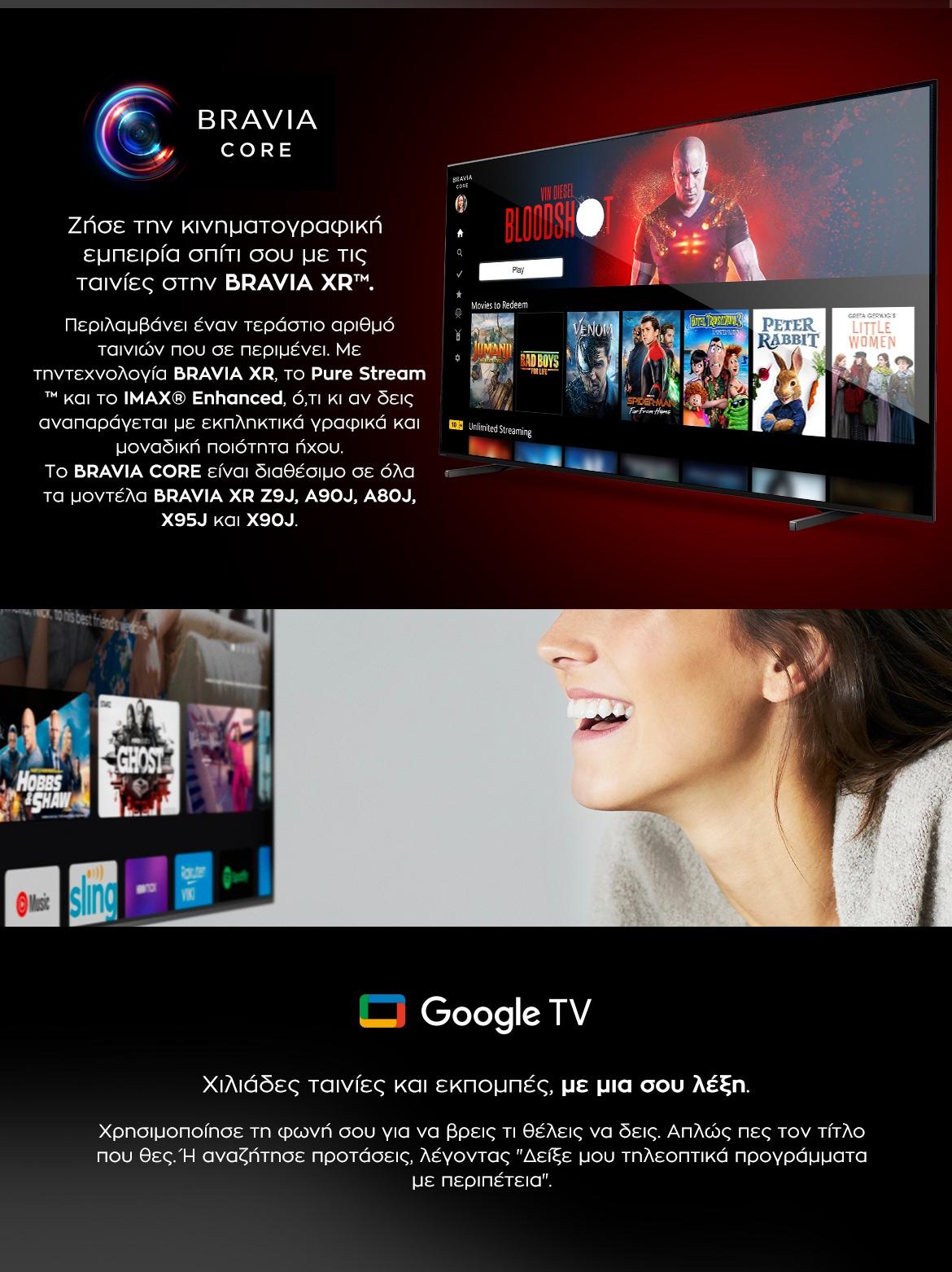 SONY Bravia XR OLED - Bravia Core & Google TV
