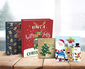Χριστουγεννιάτικα δώρα κάρτες - είδη συσκευασίας